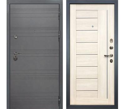 Входная металлическая дверь Лекс Сенатор 3К Софт графит / Верджиния Дуб беленый (панель №38)