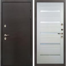 Входная дверь с терморазрывом Лекс Термо Сибирь 3К Клеопатра-2 Дуб беленый (панель №58)