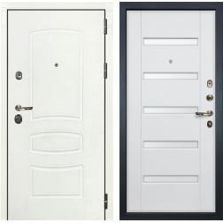 Входная дверь Лекс Сенатор 3К Шагрень белая / Ясень белый (панель №34)