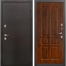 Входная дверь с терморазрывом Лекс Термо Сибирь 3К Винорит дуб тёмный (панель №91)