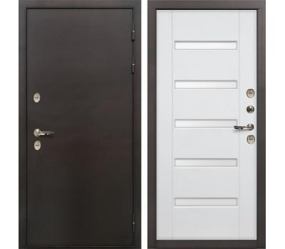 Входная уличная дверь с терморазрывом Лекс Термо Сибирь 3К Ясень белый (панель №34)