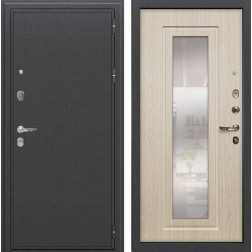 Входная стальная дверь Лекс Колизей с Зеркалом Дуб беленый (панель №23)