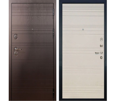 Входная стальная дверь Лекс Легион 3К Дуб фактурный кремовый (панель №63)