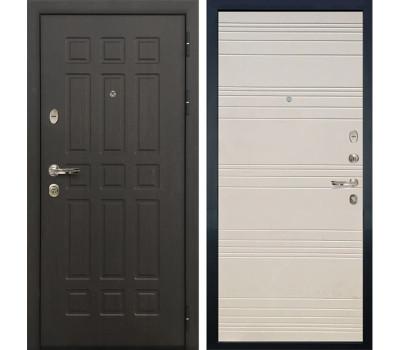Входная металлическая дверь Лекс Сенатор 8 Дуб фактурный кремовый (панель №63)