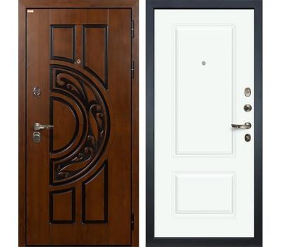 Входная стальная дверь Лекс Спартак Cisa Вероника-1 Эмаль Белая (панель №55)