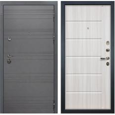 Входная дверь Лекс Сенатор 3К Софт графит / Сандал белый (панель №42)