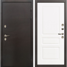 Входная дверь с терморазрывом Лекс Термо Сибирь 3К Софт белый снег (панель №94)