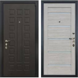 Входная дверь Лекс 4А Неаполь Mottura Клеопатра-2 Ясень кремовый (панель №66)