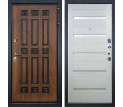 Входная металлическая дверь Лекс Гладиатор 3К Винорит Клеопатра-2 Дуб беленый (панель №58)
