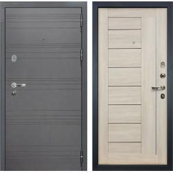Входная стальная дверь Лекс Легион 3К Софт графит / Верджиния Ясень кремовый (панель №40)