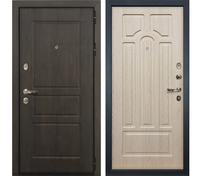 Входная стальная дверь Лекс Сенатор Винорит Дуб беленый (панель №25)