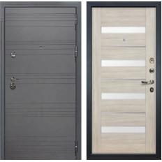 Входная дверь Лекс Сенатор 3К Софт графит / Сицилио Ясень кремовый (панель №48)