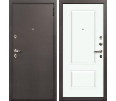 Входная стальная дверь Лекс 1А Вероника-1 Шпон Эмаль Белая (панель №55)