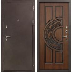 Входная дверь Лекс 5А Цезарь Винорит Голден патина черная (панель №27)