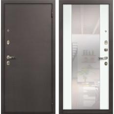 Входная дверь Лекс 1А Стиль с Зеркалом Ясень белый (панель №61)