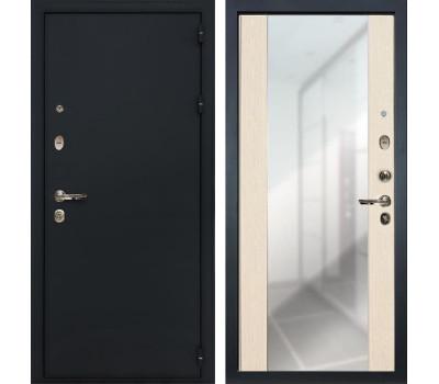 Входная стальная дверь Лекс 2 Рим Стиль с зеркалом Дуб беленый (панель №45)