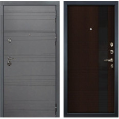Входная дверь Лекс Сенатор 3К Софт графит / Новита Венге (панель №53)