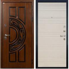 Входная дверь Лекс Спартак Cisa Дуб фактурный кремовый (панель №63)