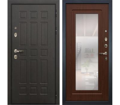 Входная металлическая дверь Лекс Сенатор 8 с Зеркалом Береза мореная (панель №30)
