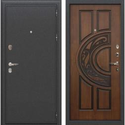 Входная стальная дверь Лекс Колизей Винорит Голден патина черная (панель №27)