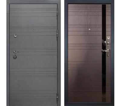 Входная металлическая дверь Лекс Сенатор 3К Софт графит / Ясень шоколад (панель №31)