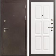 Входная дверь Лекс 5А Цезарь Софт белый снег (панель №85)