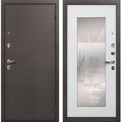 Входная стальная дверь Лекс 1А с Зеркалом Ясень белый (панель №37)