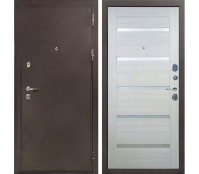 Входная стальная дверь Лекс 5А Цезарь Клеопатра-2 Дуб беленый (панель №58)
