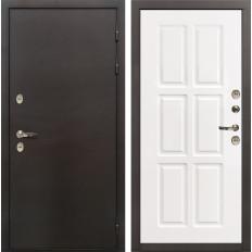 Входная дверь с терморазрывом Лекс Термо Сибирь 3К Софт белый снег (панель №85)