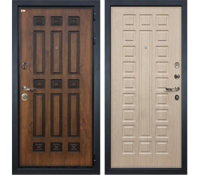 Входная металлическая дверь Лекс Гладиатор 3К Винорит Дуб беленый (панель №20)