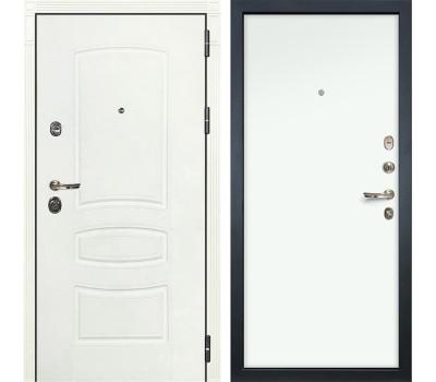 Входная металлическая дверь Лекс Сенатор 3К Шагрень белая / Белая (панель №59)