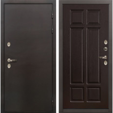 Входная дверь с терморазрывом Лекс Термо Сибирь 3К Ясень шоколад (панель №88)