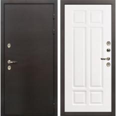 Входная дверь с терморазрывом Лекс Термо Сибирь 3К Софт белый снег (панель №89)