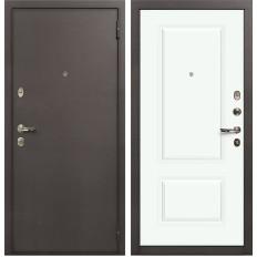 Входная дверь Лекс 1А Вероника-1 Шпон Эмаль Белая (панель №55)