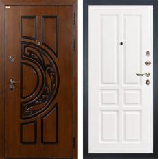 Входная дверь Лекс Спартак Cisa Софт белый снег (панель №87)