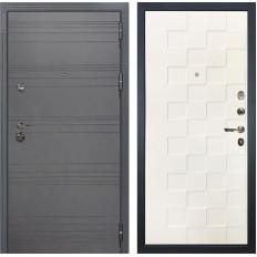 Входная дверь Лекс Сенатор 3К Софт графит / Белая шагрень Квадро (панель №71)