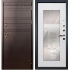 Входная дверь Лекс Легион с Зеркалом Ясень белый (панель №37)