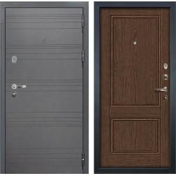 Входная стальная дверь Лекс Легион 3К Софт графит / Энигма-1 Орех (панель №57)