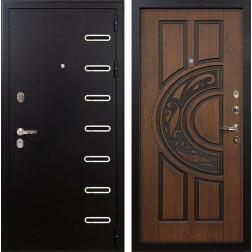 Входная дверь Лекс Витязь Винорит Голден патина черная (панель №27)