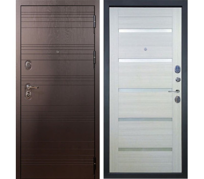Входная стальная дверь Лекс Легион 3К Клеопатра-2 Дуб беленый (панель №58)