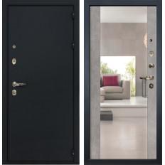 Входная дверь Лекс 2 Рим Стиль с зеркалом Бетон серый (панель №102)