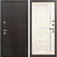 Входная дверь с терморазрывом Лекс Термо Сибирь 3К Баджио Дуб беленый (панель №47)