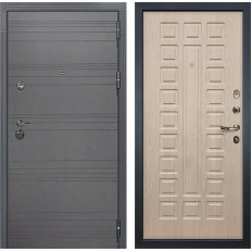 Входная дверь Лекс Сенатор 3К Софт графит / Дуб беленый (панель №20)