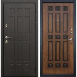 Входная металлическая дверь Лекс Сенатор 8 Голден патина черная (панель №33)