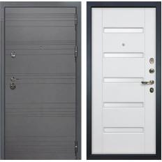 Входная дверь Лекс Сенатор 3К Софт графит / Ясень белый (панель №34)