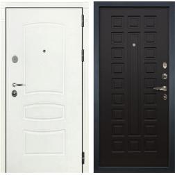Входная стальная дверь Лекс Легион 3К Шагрень белая / Венге (панель №21)