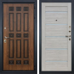 Входная дверь Лекс Гладиатор 3К Винорит Клеопатра-2 Ясень кремовый (панель №66)