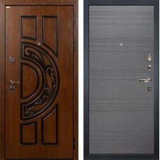 Входная дверь Лекс Спартак Cisa Графит софт (панель №70)
