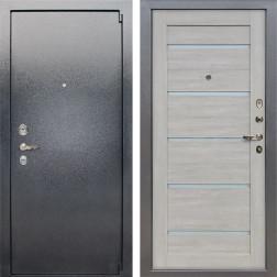 Входная стальная дверь Лекс 3 Барк Клеопатра-2 (Серый букле / Ясень кремовый) панель №66