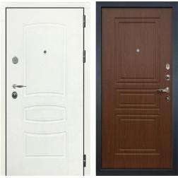 Входная дверь Лекс Легион 3К Шагрень белая / Береза мореная (панель №19)